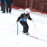 Race pole, ski, race outfit the whole deal